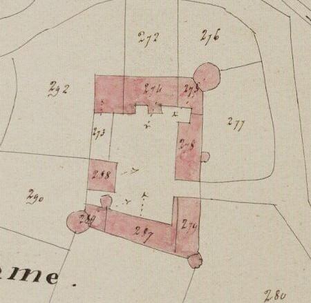 Plan du chateau cadastre 1817